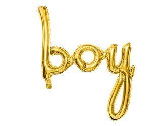 Balon foliowy Boy - 63,5 x 74 cm - złoty