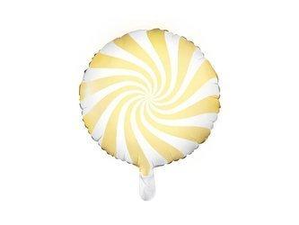 Balon foliowy Cukierek - 35cm - jasny żółty