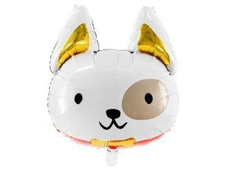 Balon foliowy Pies - 45 x 50 cm - biały