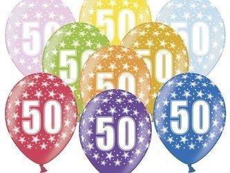 Balony 30 cm - 50th Birthday - 50 urodziny - Metallic Mix - 50 szt.