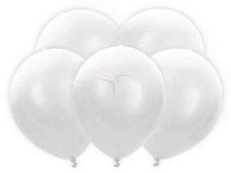 Balony Led białe - 30 cm - 5 szt.