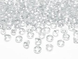 Diamentowe konfetti - 12 mm - bezbarwne - 100 szt.