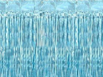 Kurtyna Party niebieska - 90 x 250 cm