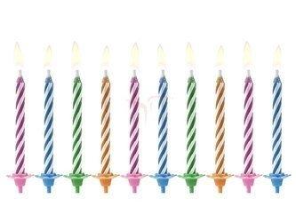 Świeczki urodzinowe Magiczne mix - 6 cm - 10 szt.
