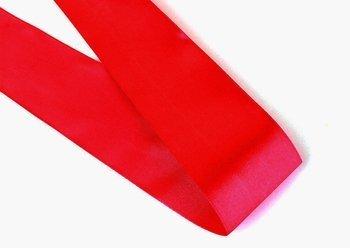 Tasiemka satynowa czerwona - 50mm - 1m