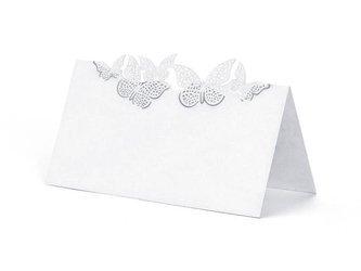 Wizytówki na stół Motylki - 9,2 x 5,7 cm - 10 szt.