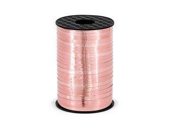 Wstążka plastikowa - różowe złoto - 5mm/225m