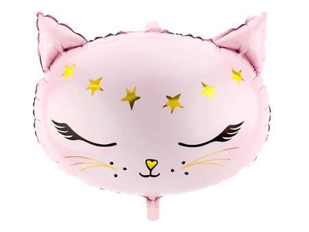 Balon foliowy Kotek - 48 x 36 cm - różowy