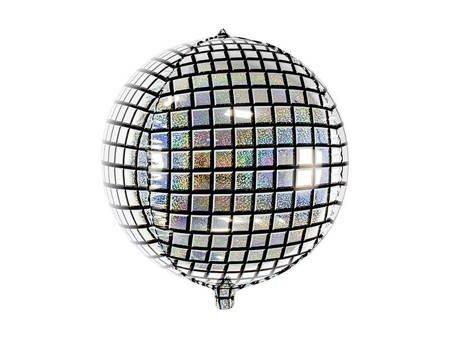 Balon foliowy Kula dyskotekowa - 40 cm