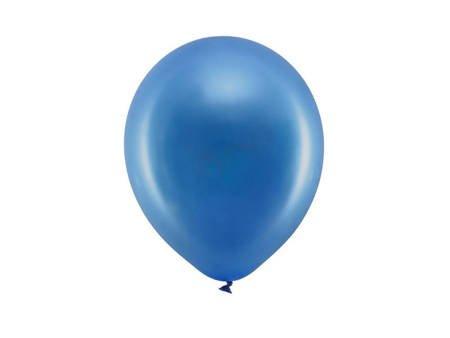 Balony Rainbow 23 cm metalizowane - granatowe - 100 szt.