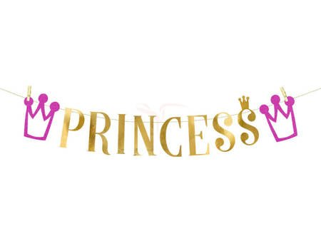 Baner Princess - księżniczka - 13.5 x 90 cm
