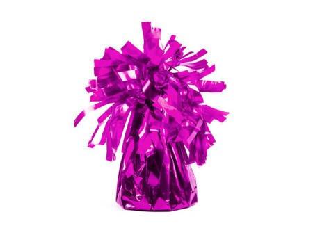 Ciężarek do balonów foliowy - ciemny róż - 4 szt.