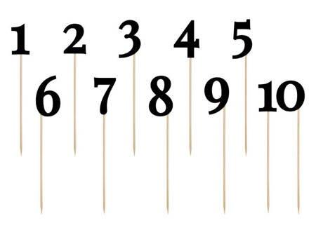 Numery na stół - 24 - 26 cm - czarny