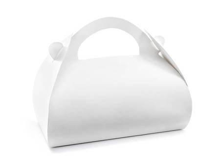 Ozdobne pudełka na ciasto - 16 x 8,5 x 9,5 cm - biały - 10 szt.
