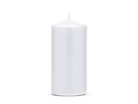 Świeca klubowa matowa - 12 x 6 cm - biały