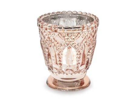 Świecznik - 8 cm - różowe złoto - 4 szt.