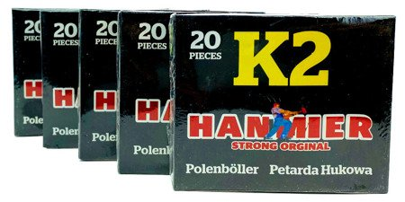 ZESTAW - 5 x PETARDY K2 HAMMER - K2 - Gaoo