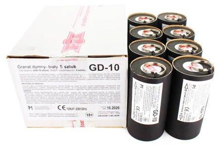 ZESTAW - 8 x GRANAT DYMNY - Biały - Zawleczka - GD-10 - B&G